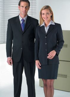 men and women suits